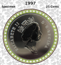 1997 Canada Nickel Quarter Specimen Caribou - 25 Cents
