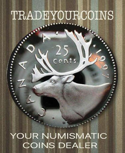 1997 Canada Sterling Quarter Proof Caribou - 25 Cents