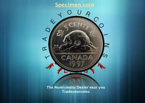 1997 Canada Five Cents Specimen Nickel Beaver