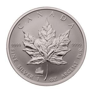 1998 Silver maple Leaf with Privy Marks-Titanic