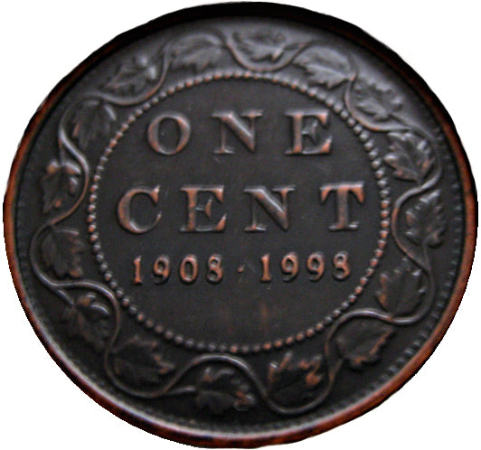 1908-1998 Canada 1 Cent Penny Matte Finish