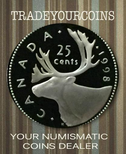 1998 Canada Sterling Quarter Proof Caribou - 25 Cents