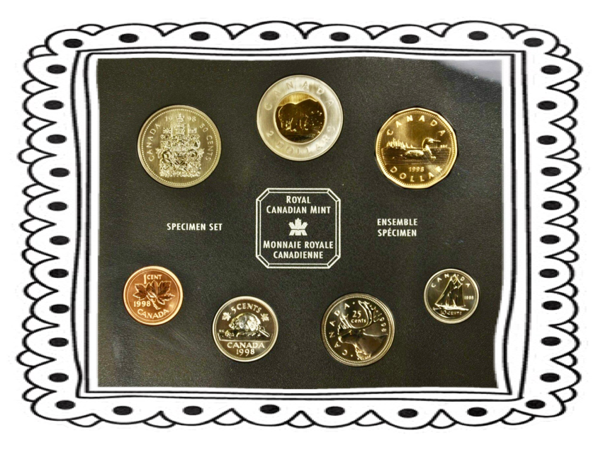 1998 7 Coin Specimen Set-Bear