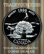 1999 Canada Sterling Silver Quarter Proof  - 25 Cents Commemorative August