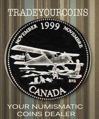 1999 Canada Sterling Silver Quarter Proof  - 25 Cents Commemorative November