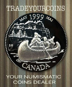 1999 Canada Sterling Silver Quarter Proof  - 25 Cents Commemorative May