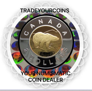 1999 Canada Proof  Twoonie, Sterling Silver Two Dollars Coin
