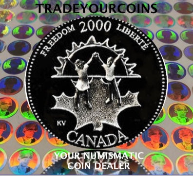 2000 Canada Sterling Silver Quarter Proof - 25 Cents Commemorative Millenium-November, Freedom