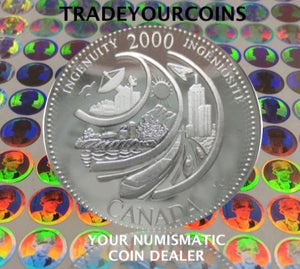 2000 Canada Sterling Silver Quarter Proof  - 25 Cents Commemorative Millenium-February Ingenuity