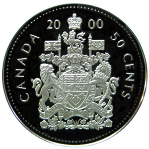 2000 Canada Fifty Cents Silver proof Heavy cameo