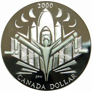 2000 Canada Silver Proof Dollar-Voyage of Discovery