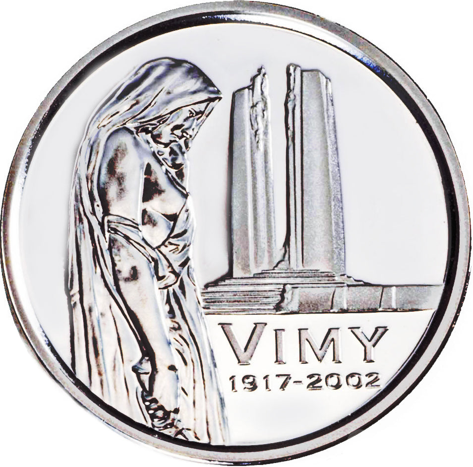 2002 Canada Five Cents Sterling proof Heavy cameo-85 th Anniversary, Battle for Vimy Ridge