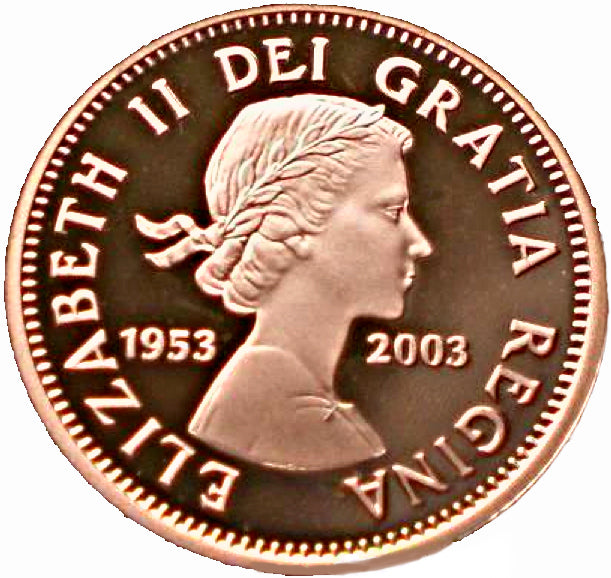 2003-1953  Canada 1 Cent Penny Proof Heavy Cameo