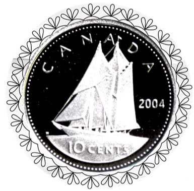 2004 Canada Ten Cents Silver proof Heavy cameo