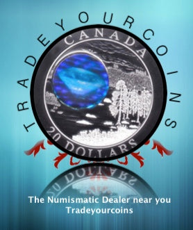 2005 Canada 20 Dollars Natural Wonders,  Fine Silver coin- Diamonds Hologram
