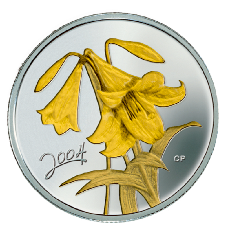 2004 Fifty Cents- Golden Easter Lily