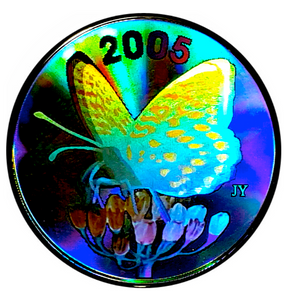 2005 Fifty Cents-Spangled Fritillary Butterfly, Hologram