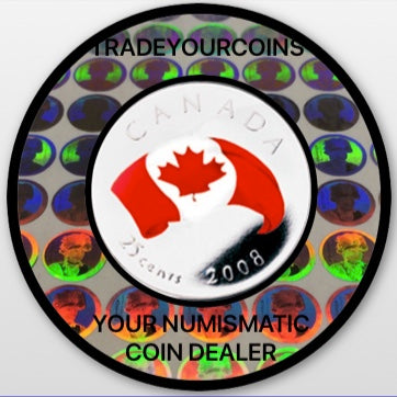 2008 Canada Nickel Coloured Quarter - 25 Cents From Oh Canada Gift Set-Canadian Flag UNC