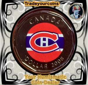 2008 Canada Nickel Montreal Canadiens Loonie Dollar From Canadian NHL Hockey Road Jersey Crest set