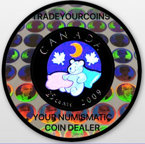 2009 Canada Nickel Coloured Quarter - 25 Cents From Baby Set-Teddy Bear UNC