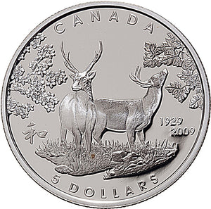 2009 Canada Sterling Silver Five Dollars Coin-80th Anniversary of Canada in Japan