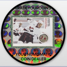 2009 Canada Nickel Plated Steel Colourised Quarter - 25 Cents, Sport Card-Men's Ice Hockey Team