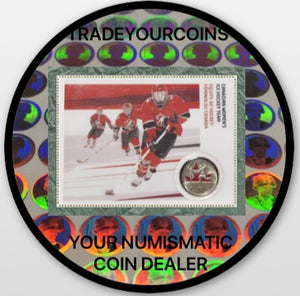 2009 Canada Nickel Plated Steel Colourised Quarter - 25 Cents, Sport Card-Women's Ice Hockey