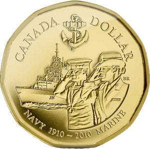 2010-1910 Canada Gold Plated Navy Loonie Dollar