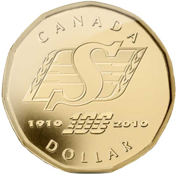 2010 Canada Gold Plated Saskatchewan Loonie Dollar