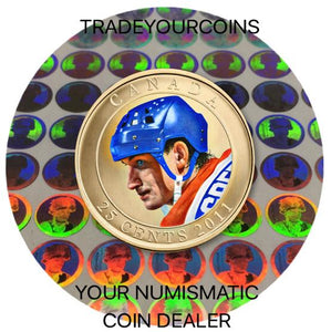 2011 Canada Copper plated Steel Quarter - 25 Cents Wayne Gretzky