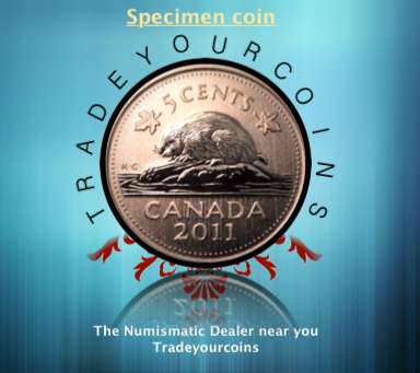 2011 Canada Five Cents Specimen Nickel Beaver