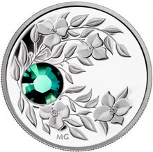 2012 $3 Three Dollars-Birthstone Collection-May-Emerald