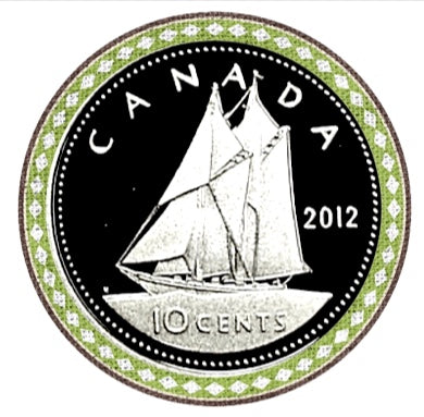 2012 Canada Ten Cents Nickel proof Heavy cameo
