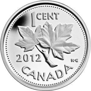 2012 Canada Farewell to Penny One 1 Cent Pure .9999 Silver
