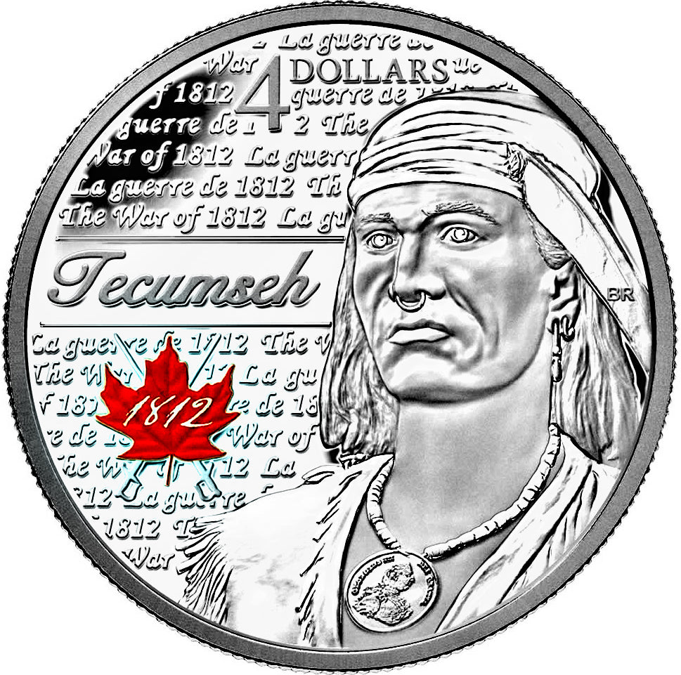 2012 $4 Four Dollars-The heroes of 1812 series-Tecumseh