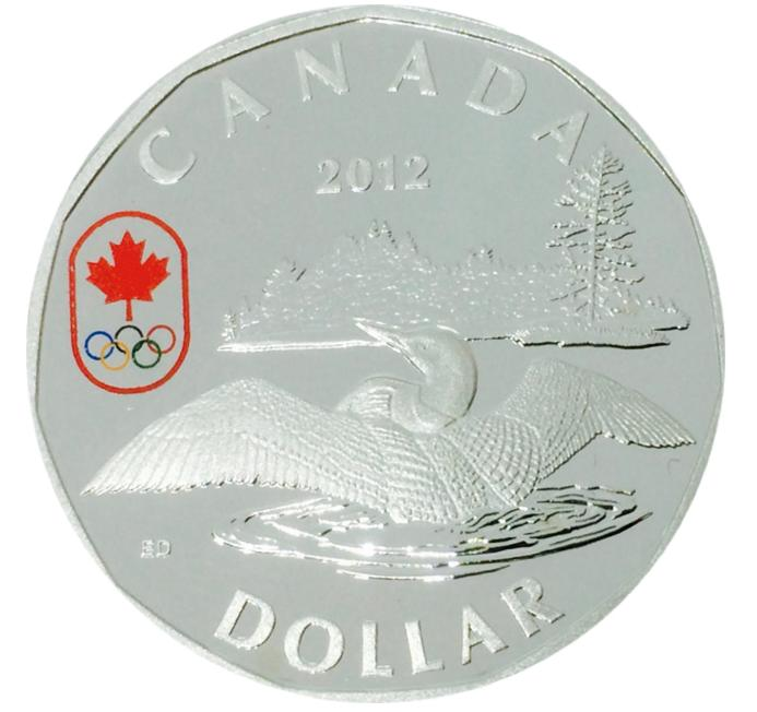 2012 Canada Proof  Lucky Loonie Sterling Silver Dollar