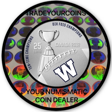 2012 Canada Cupronickel Quarter - 25 Cents Canadian football League-Winnipeg Blue Bombers