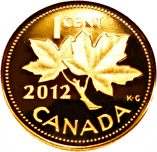 2012 Canada 1 Cent Penny Proof Heavy Cameo