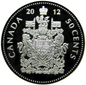 2012 Canada Fifty Cents Silver proof Heavy cameo