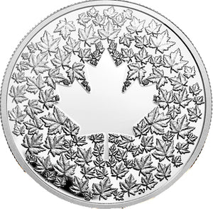 2013 Canada 3$ Fine Silver Coin - Maple Leaf Impression