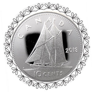 2013 Canada Ten Cents Silver proof Heavy cameo