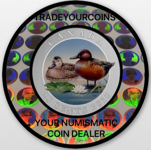 2013 Canada Cupronickel Quarter - 25 Cents Ducks of Canada-Wood Duck