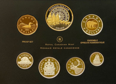 2013 Premium Proof Set-100th Canadian Arctic Expedition