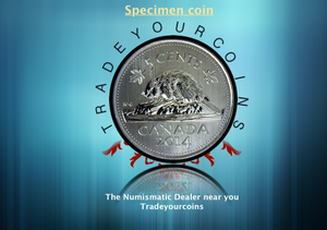 2014 Canada Five Cents Specimen Nickel Beaver