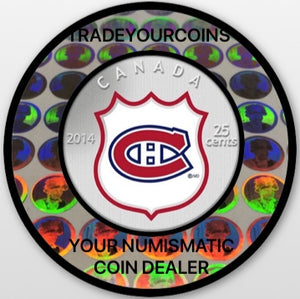 2014 Canada Cupronickel Quarter - 25 Cents-National Hockey League-Montreal Canadiens