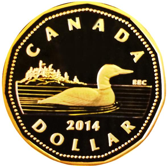 2014 Canada Nickel Proof Loonie Dollar