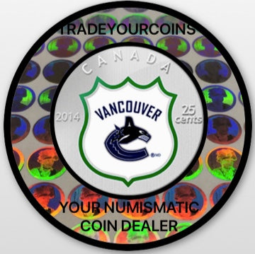 2014 Canada Cupronickel Quarter - 25 Cents-National Hockey League-Vancouvers Canucks