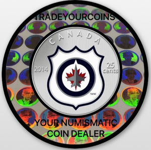 2014 Canada Cupronickel Quarter - 25 Cents-National Hockey League-Winnipeg Jets