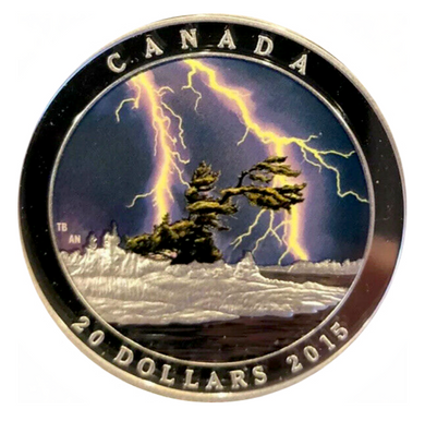 2015 Twenty Dollars Fine Silver, Weather Phenomenon-Summer Storm