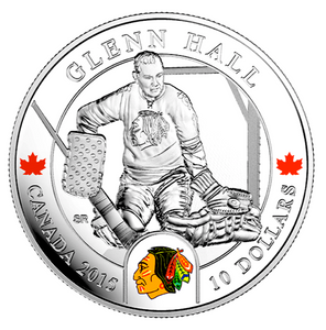 2015 $10 Ten Dollars-Goalies-Glenn Hall